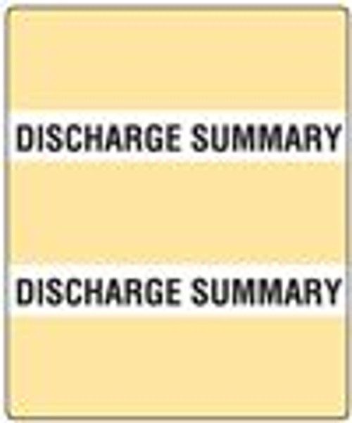 300 Series Create Your Own Patient Chart Divider Tab-Discharge Summary
