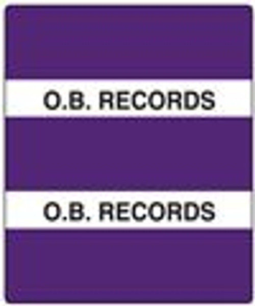 300 Series Create Your Own Patient Chart Divider Tab-Purple O.B. Records