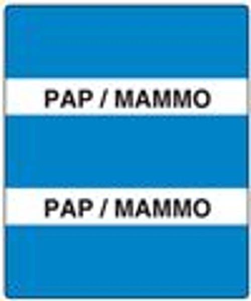 300 Series Create Your Own Patient Chart Divider Tab-Pap/Mammo