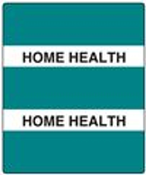 "300 Series Create Your Own Patient Chart Divider Tab - ""Health History"" - Turquoise - 1-1/2'' x 1-1/2'' - 102/Pack"