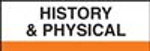 "Create Your Own Patient Chart Divider Tab- ""History & Physical"" - Orange - 400 Series - 1/2"" H x 1-1/4"" W -  100/Pack"