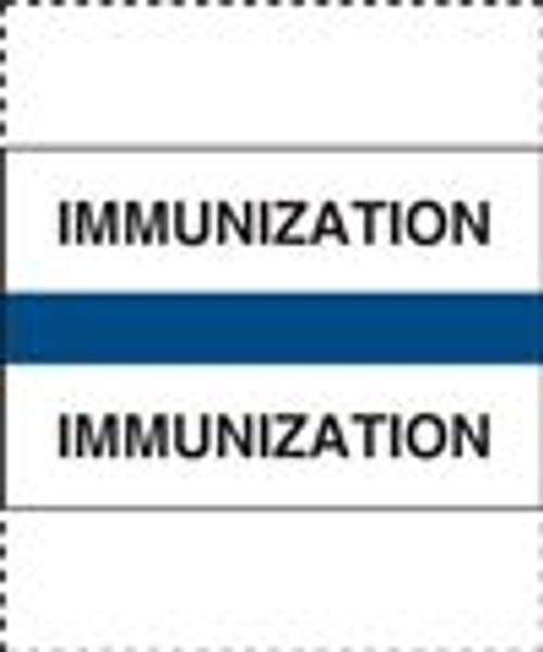 400 Series Create Your Own Patient Chart Divider Tab-Immunization