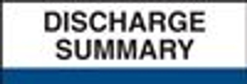 400 Series Create Your Own Patient Chart Divider Tab-Discharge Summary