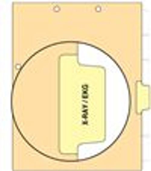 """""""X-Ray/EKG"""" Side Tab 110 lb Manila Index Chart Divider-X-Ray/Ekg - Yellow Tab Postion 4 - 100/pk"""