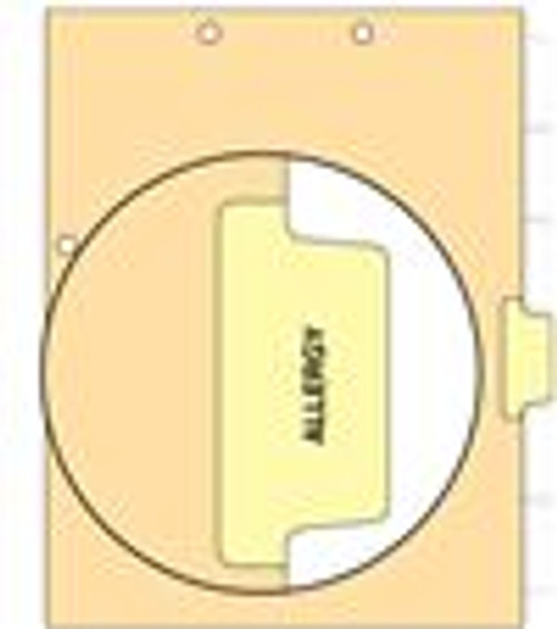"""Allergy"" Side Tab 110 lb Manila Index Chart Divider-Allergy - Yellow Tab Postion 4 - 100/pk"