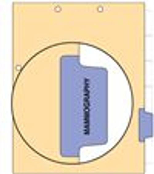 """Mammography"" Side Tab 110 lb Manila Index Chart Divider-Mammography - Purple Tab Position 5 - 100/pk"