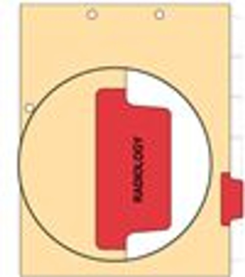"""Radiology - Side Tab 100 lb Manila Index Chart Divider - Radiology - Red Tab Position 5 - 100/pk"