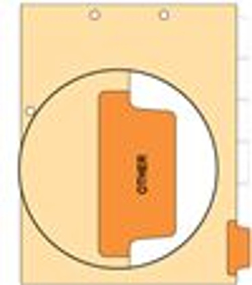 """Other"" Side Tab 110 lb Manila Index Chart Divider-Other - Orange Tab Position 6 - 100/pk"