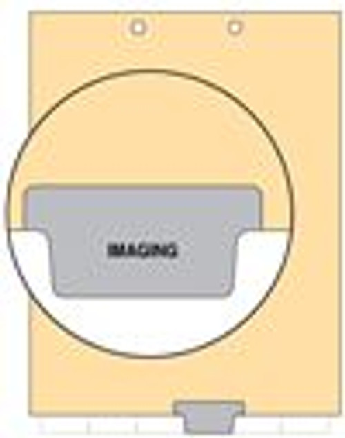 """Imaging"" -  Index Chart Divider- Bottom Tab in Position 4 - Gray Colored Tab - 100/Package"