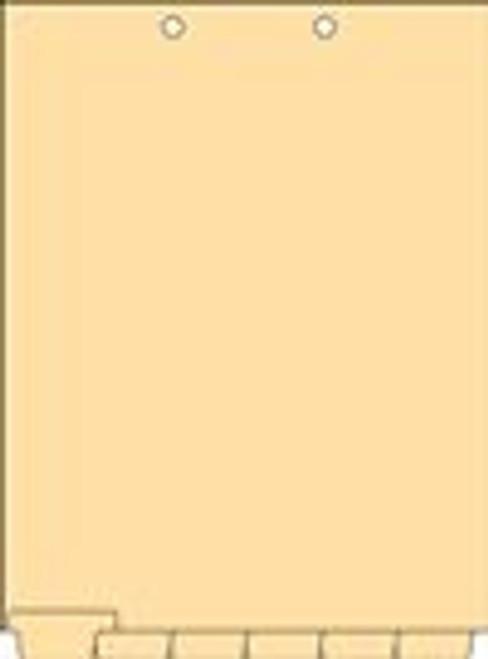 Clear Writable Index Chart Divider Set -1/6 Cut Letter Size - 25/Box