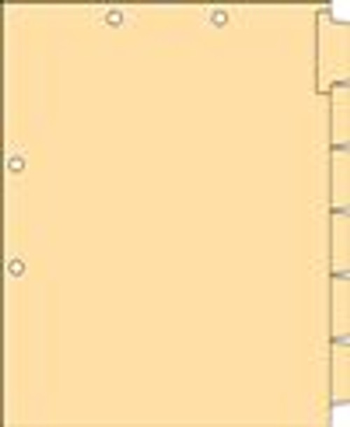 Clear Writable Index Chart Divider Set -1/6 Cut Side Tab - Letter Size - White Stock - Holes Punched at Top & Side - 25/Box