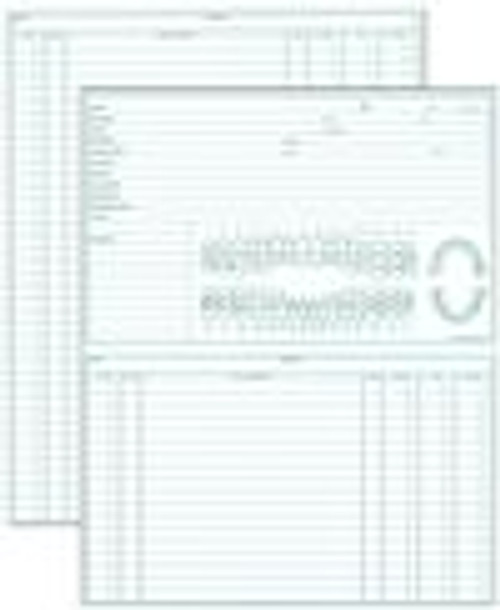2-Sided Green Ink 5X8 Patient Record Card