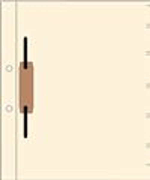 11pt Manila Side Hinge Fileback-One 2'' Sem-clip on the front side, position 5