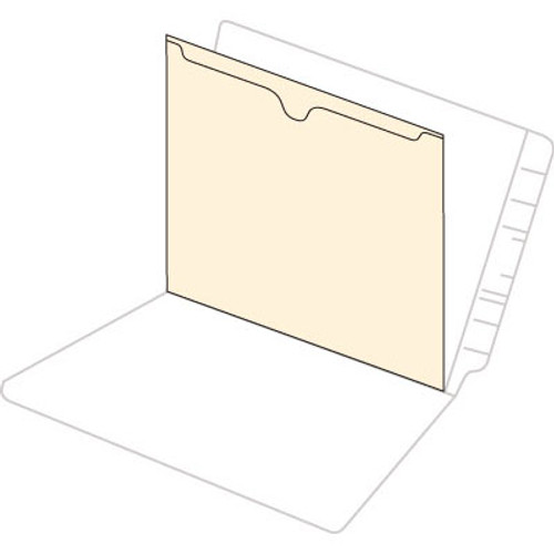 "11pt Manila Self Adhesive Divider with Top Pocket - Closed on 3 Sides - 8-3/4"" W x 11-1/4"" H - 50/Box"