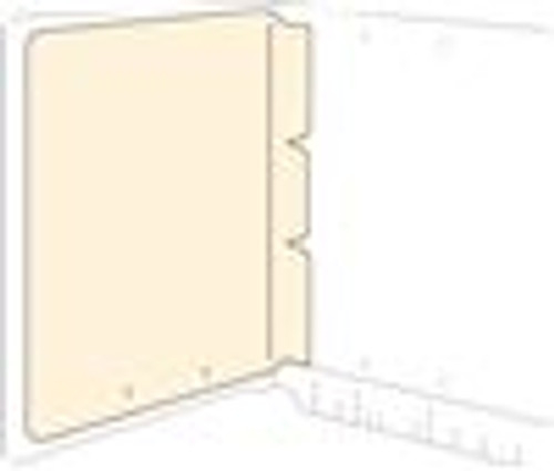 Self Adhesive Divider - 11Pt. Manila - 8-1/2'' W x 11'' H - 100/Box