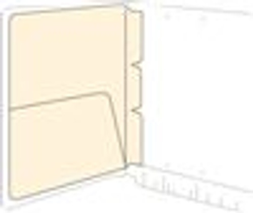 Self Adhesive Pocket Divider- 11pt Manila  - 8-5/8'' W x 11-1/4'' H - 100/box