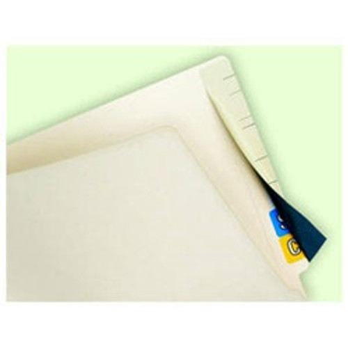 """Tab Cover Up Self-Adhesive Color Code Label Cover - 2-1/2""""W x 8"""" H - 50/Pack"""