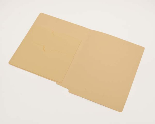 End Tab File Folders with Double Pockets, 14 Pt. Manila, Letter Size, Reinforced end tab, 50/Box