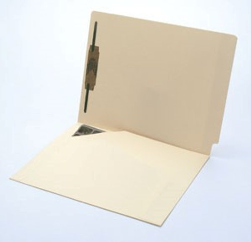 Folder: End Tab with Left Full Size Pocket -and 1 Fastener in Position 1 - 11 Pt. Manila - Letter Size - Box of 50