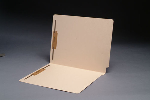 18 Pt. End Tab File Folder  - Full Cut Single Ply End Tab and Mylar Reinforced Spine - 2 Fasteners in Positions  1&3 - 50/Box