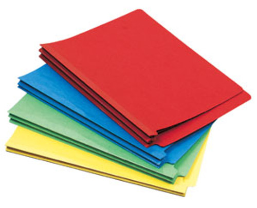"Colored Classification Folder: 15 Pt. End Tab-2 Dividers-3"" Accordion Expansion"