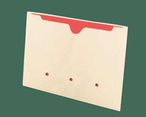 Dental Style File Jacket -  11 Pt. Manila - End Tab-No Expansion- 250/Carton