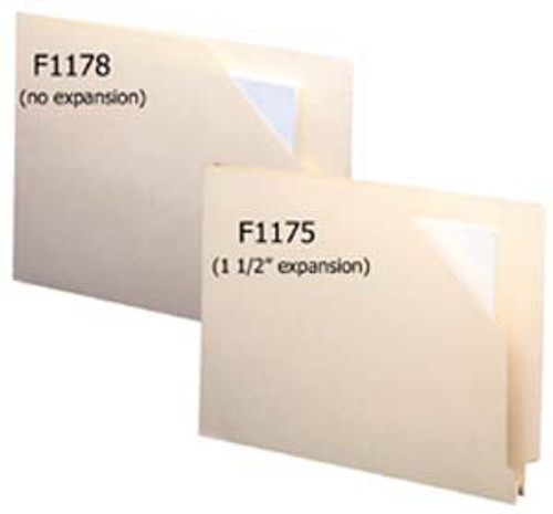 "folder: 14 Pt. End Tab - 1-1/2"" Accordion Expansion"