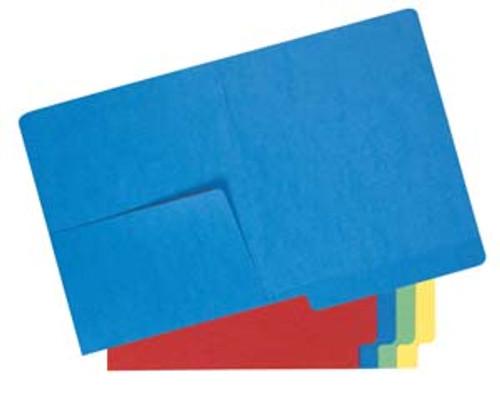 Colored Folder: 14 Pt. End Tab-Left Half Pocket