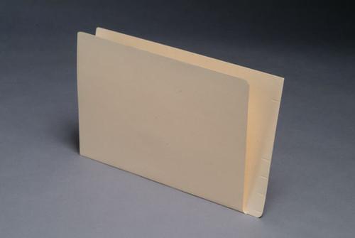 "Mini End Tab Folder - 11 Pt. Manila  - Full Cut Single Ply End Tab - 9-1/2"" W x 6"" H -100/Box"