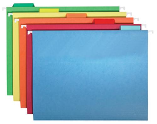 11 pt Colored Hanging Folders-1/5 cut
