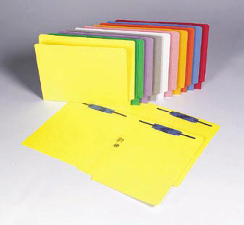 Colored Folder: 11 Pt. End Tab-1 Fastener-Pos 1