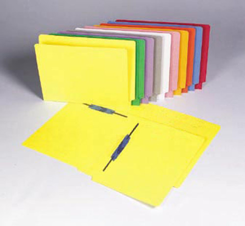 Colored Folder: 11 Pt. End Tab-2 Fasteners-Pos 3&5