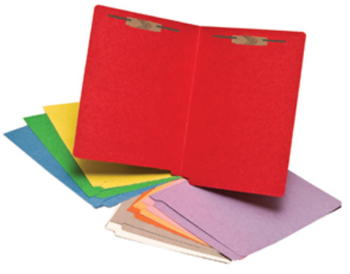 Colored Folder: 15 Pt. End Tab-2 Fasteners-Pos 1&3