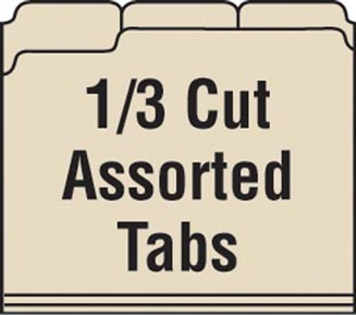 Folder: 11 Pt. Top Tab- 1/3 Cut-2 Fasteners- Pos 3&5