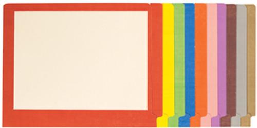Colored Border Folder: 11 Pt. End Tab-2 Fasteners