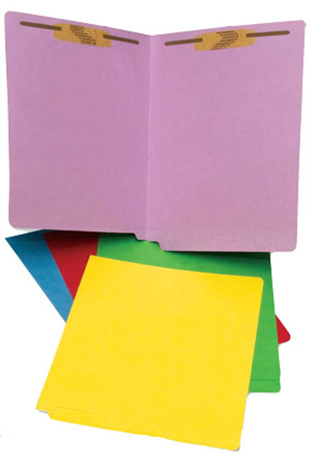 Colored Folder: 20 Pt. End-Tab-2 Fasteners-Pos 1&3