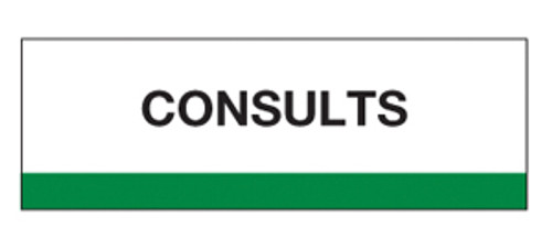 """Consults"" -  Chart Divider Tabs - 1-1/4 x 1-1/2 - 100/pk"