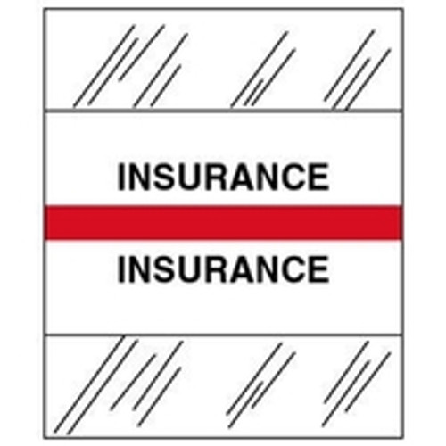 """Insurance"" Patient Chart Index Tabs - 100 per package"