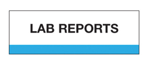 """Lab Reports"" Chart Divider Tabs"