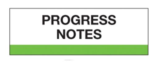 """Progress Notes"" Chart Divider Tabs"