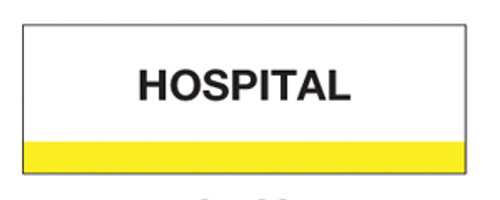 """Hospital"" Chart Divider Tabs"