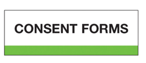 """""""Consent Forms"""" Chart Divider Tabs"""