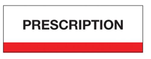"""Prescription"" Chart Divider Tabs"