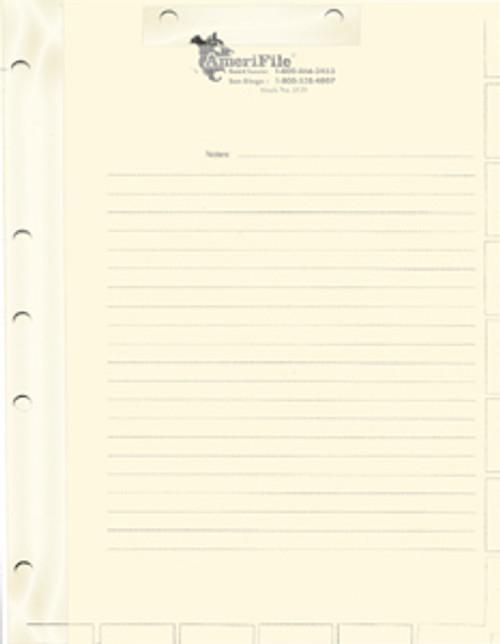 Divider Sheets: Letter Size-Manila