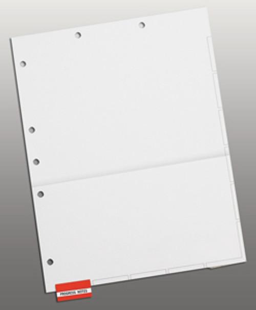 Divider Sheets: Letter Size-Pocket-White