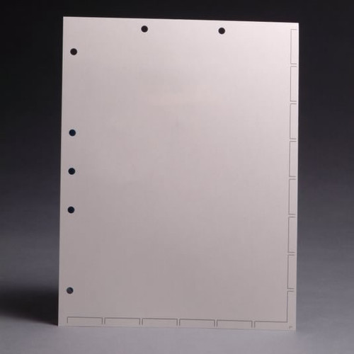 """Chart Divider Sheets for Stick-On Tabs - 8-1/2"""" W x 11"""" H Letter Size - White - 100/Box"""
