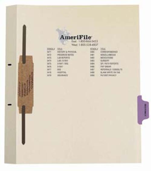 """Insurance"" Side Tab-Fileback Dividers - Purple Tab in Position 6 - 50 per pack"