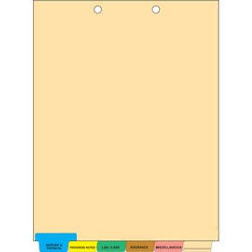 Chart Divider Sets: Pre-Printed 6 Tabs- Medical - 65 Sets Per Box