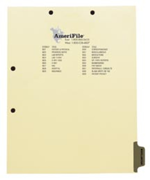 """""""Miscellaneous"""" Side Tab - Chart Dividers - Gray Mylar Tab - Tab in Position 8 - Pack of 50"""