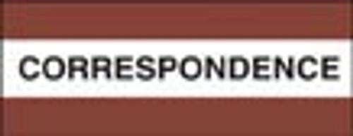"""Correspondence"" Large Chart Divider Tabs"